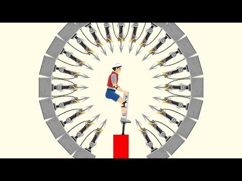 99% IMPOSSIBLE HARPOON DODGE CHALLENGE! (Happy Wheels #101)