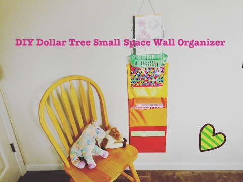 DIY Dollar Tree Small Space Wall Organizer - Less than $7