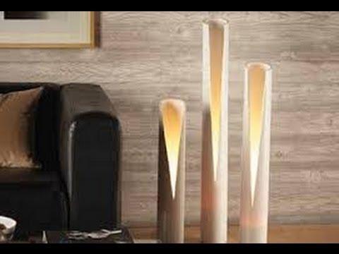Como hacer LAMPARAS CON CAOS DE PVC 6  YouTube