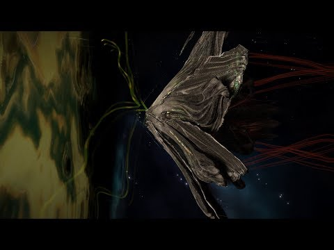 Elite Dangerous. Thargoid entering witch space (close up)