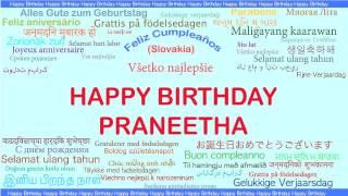 Praneetha   Languages Idiomas - Happy Birthday