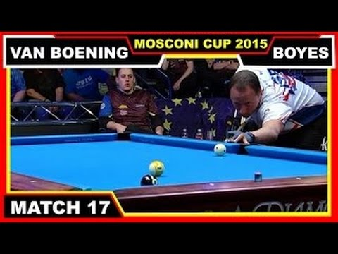Skyler Woodward vs Karl Boyes | Match 9 | Mosconi Cup 2015 9-ball ...