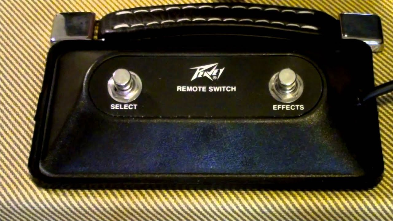 Peavey Amplifier Foot Switch / Remote Switch - YouTube