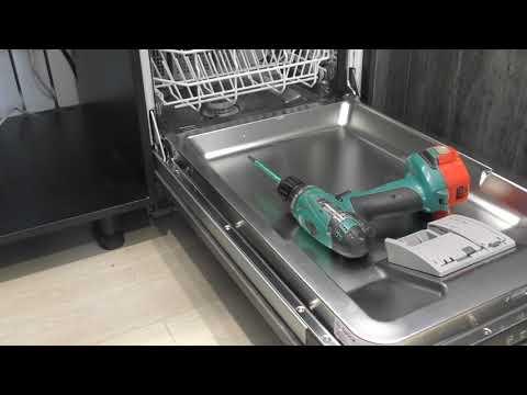 Как своими руками установить посудомоечную машину Bosch SilencePlus SPV25CX01R под столешницу.