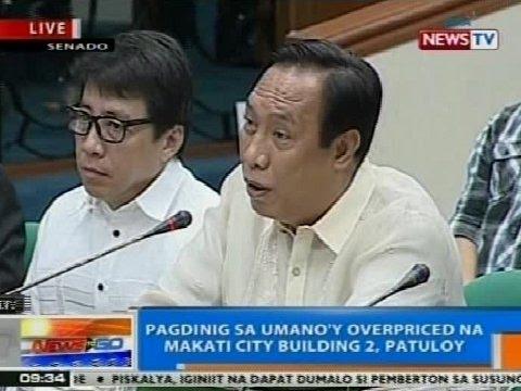 NTG: Pagdinig sa umano'y overpriced na Makati City Hall Building 2, nagpapatuloy