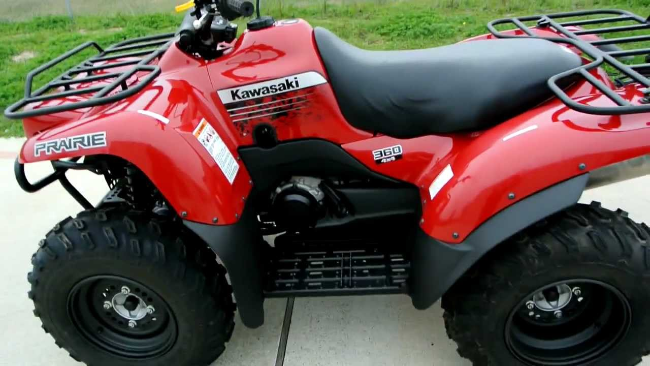 2012 Kawasaki Prairie 360 4X4 Aztec Red Overview and Review - YouTube