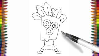 How to draw Clash Royale characters Dart Goblin step by step