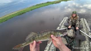 С женой на рыбалку, по диким Сибирским местам.