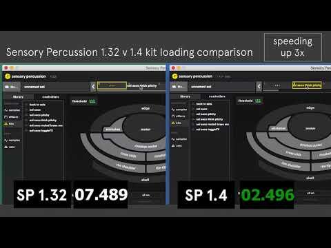 Sensory Percussion 1.32 v 1.4 kit loading comparison