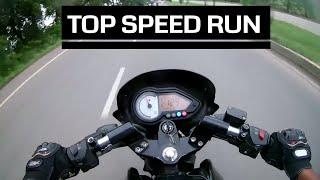 Bajaj Pulsar 180 Top speed Run || Top Velocity || 145 km/hr