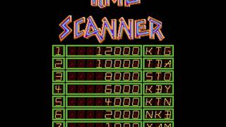 Arcade video game title intro sequence for Time Scanner (Sega 1987)...