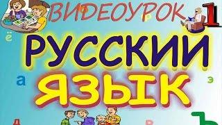 Русский язык. Видеоурок 1
