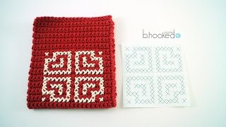 How to Cross Stitch On Crochet