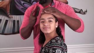 Dad Doing Daughter's Hair