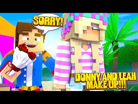 Minecraft WILL LEAH FORGIVE LITTLE DONNY???
