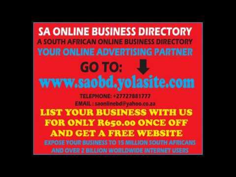 SOUTH AFRICA BUSINESS DIRECTORY www.saobd.yolasite.com