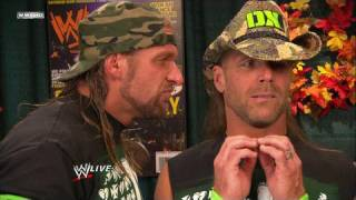 DX discuss their match at WWE Survivor Series