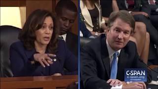 Exchange between Sen. Harris and Judge Kavanaugh on Mueller Investigation (C-SPAN) thumbnail