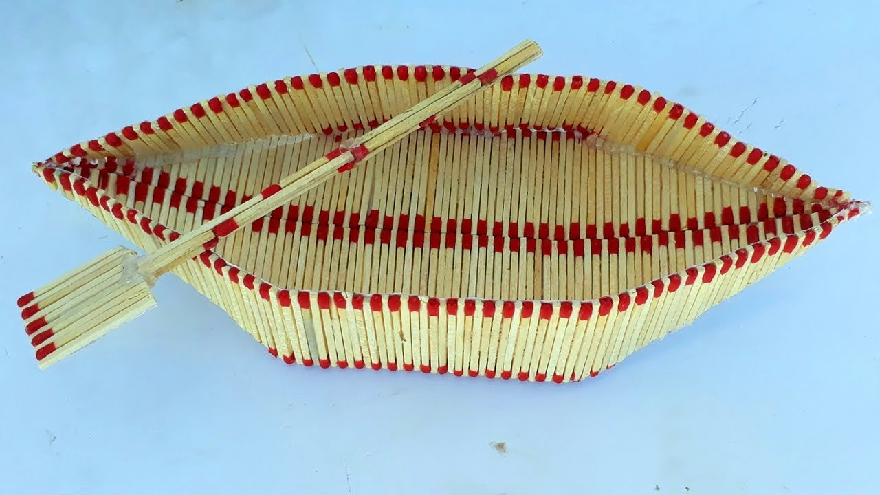 How To Make A Matchstick Boateasy Match Art DIY Craft Making From Waste Material