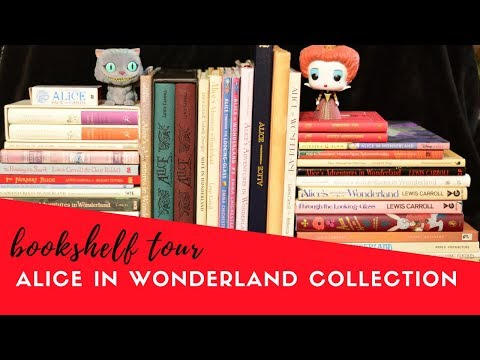 Alice In Wonderland Illustrated Bookshelf Tour | Beautiful Books