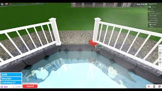 ROBLOX Bloxburg Cool Hot Tub