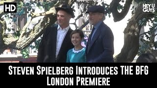 Steven Spielberg Introduces The BFG London Premiere