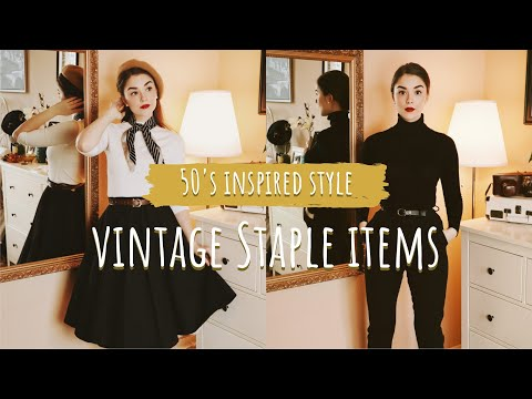 STAPLE ITEMS for a Vintage Inspired Style | Clothing, Accessories & Shoes