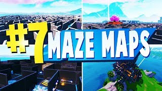 TOP 7 Best MAZE Creative Maps In Fortnite | Fortnite Maze CODES