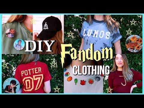 DIY FANDOM Clothes! (WITHOUT Transfer Paper)