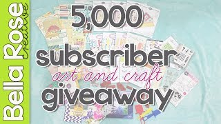 5,000 Subscriber Giveaway!!!!!!!!! Art & Paper Craft Supplies