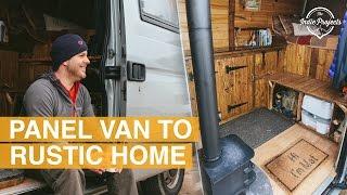 Beautiful Rustic Self Build Van Tour