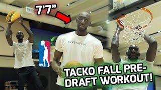"""7'7"""" Tacko Fall Full Pre-Draft Workout! Tallest Player in the NBA 😱"""
