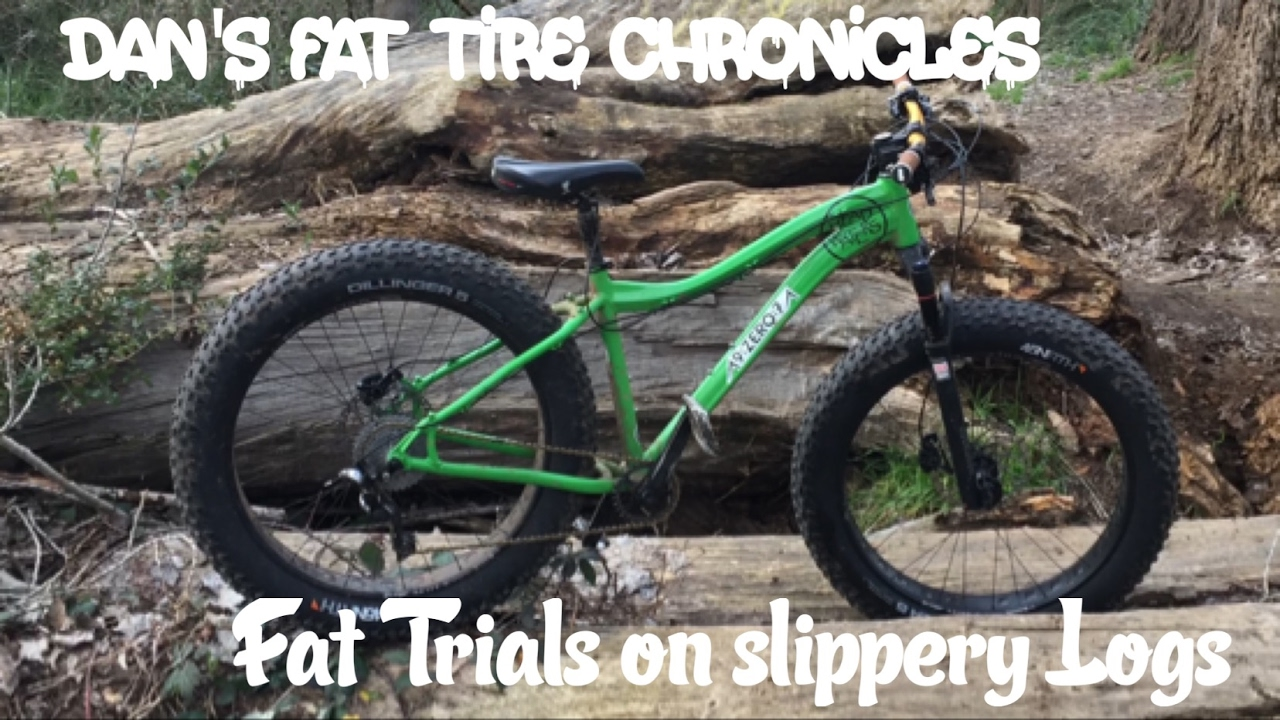 Fat Bike Trials On Slippery Logs Youtube
