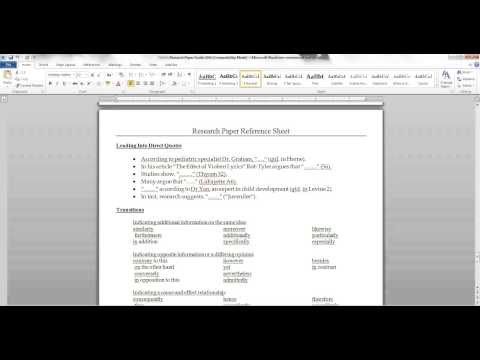 Hooks, Topic Sentences, Transitions, and Conclusions for the Research Paper.mp4