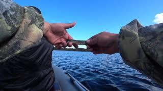 Осенняя рыбалка на лесном озере Рыбалка в Карелии
