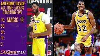 """ANTHONY DAVIS"""" ALL TIME LAKERS STARTING FIVE(THIS IS THE BAD ONE WITHOUT KAREEM)"""