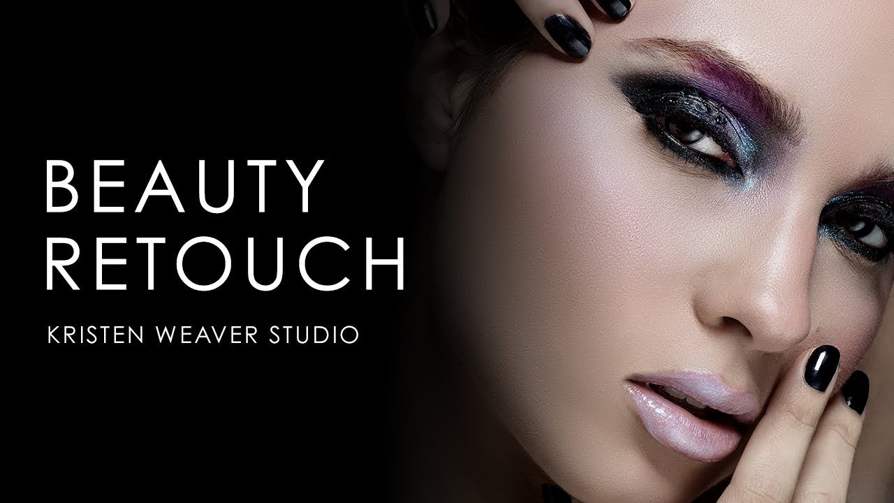 photoshop tutorial: skin retouch with ashlyn - dark metallic smokey eye