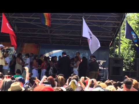 Group Marriage at San Antonio Pride Fest 2015