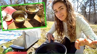Making Gourmet Cocktails in the Woods! (Girls Fishing + Camping)