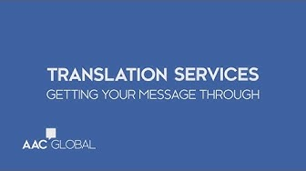 AAC Global | Translation and Localization Services