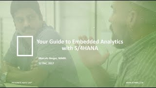 Your Guide to Embedded Analytics with S/4HANA