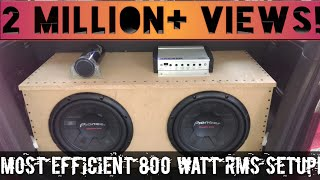 2 Pioneer TS-W311S4, Kicker Kx800.1, Powerbass 1.2 farad capacitor. Some nice Moves by subs! thumbnail
