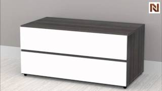 Nexera Allure - Entertainment & Home Office 36'' Storage Unit - 2 Drawers 220433