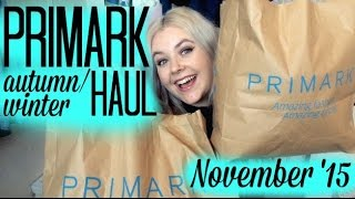 AUTUMN/WINTER PRIMARK HAUL NOVEMBER 2015 | Em December