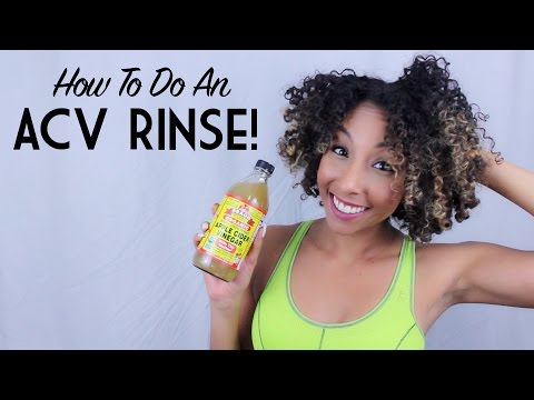 How To Do An ACV Rinse (Apple Cider Vinegar) on Natural Hair | BiancaReneeToday