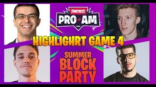 Fortnite PRO AM Returns Game 4 Highlights - Summer Block Party 2019