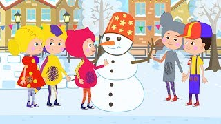#НОВЫЙГОД 2019 - КУКУТИКИ - Зима Дед Мороз и Снеговик - Песня мультфильм для детей малышей