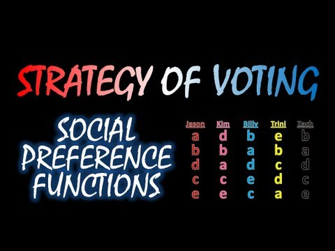 The Strategy Of Voting: Social Preference Functions