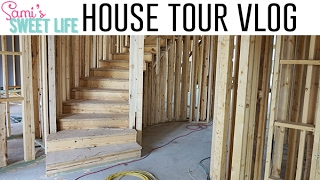 connectYoutube - THAT STAIRCASE THO! FRAMED HOUSE TOUR | Building Our Dream Home Vlog Ep. 6