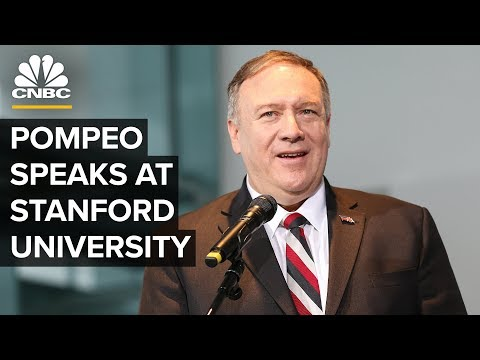 Secretary Of State Mike Pompeo Speaks At Stanford University – 1/13/2020